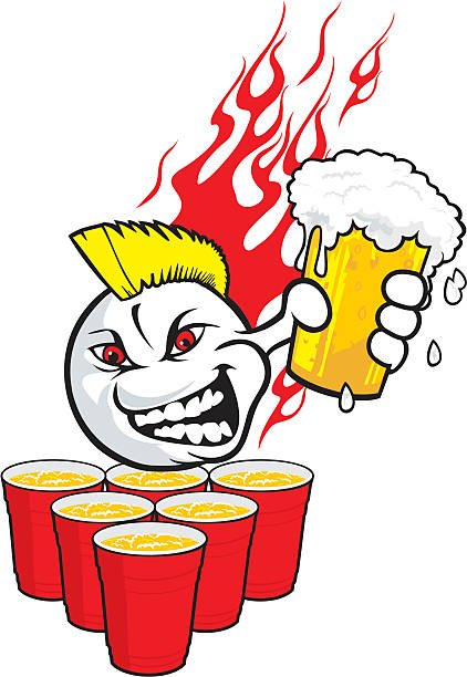 stockillustraties, clipart, cartoons en iconen met beerpongtoo - beirut