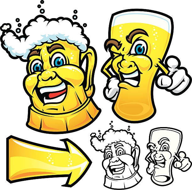 beers happy and angry - bachelor party stock illustrations, clip art, cartoons, & icons