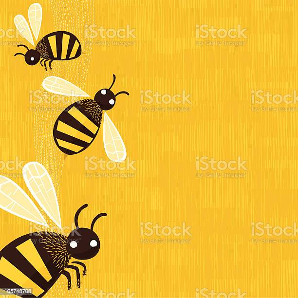 Bees Background Stock Illustration - Download Image Now