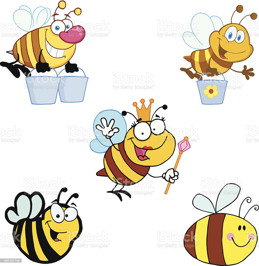 Bienen-Kollektion – Vektorgrafik