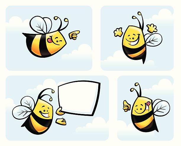 Bees vector art illustration