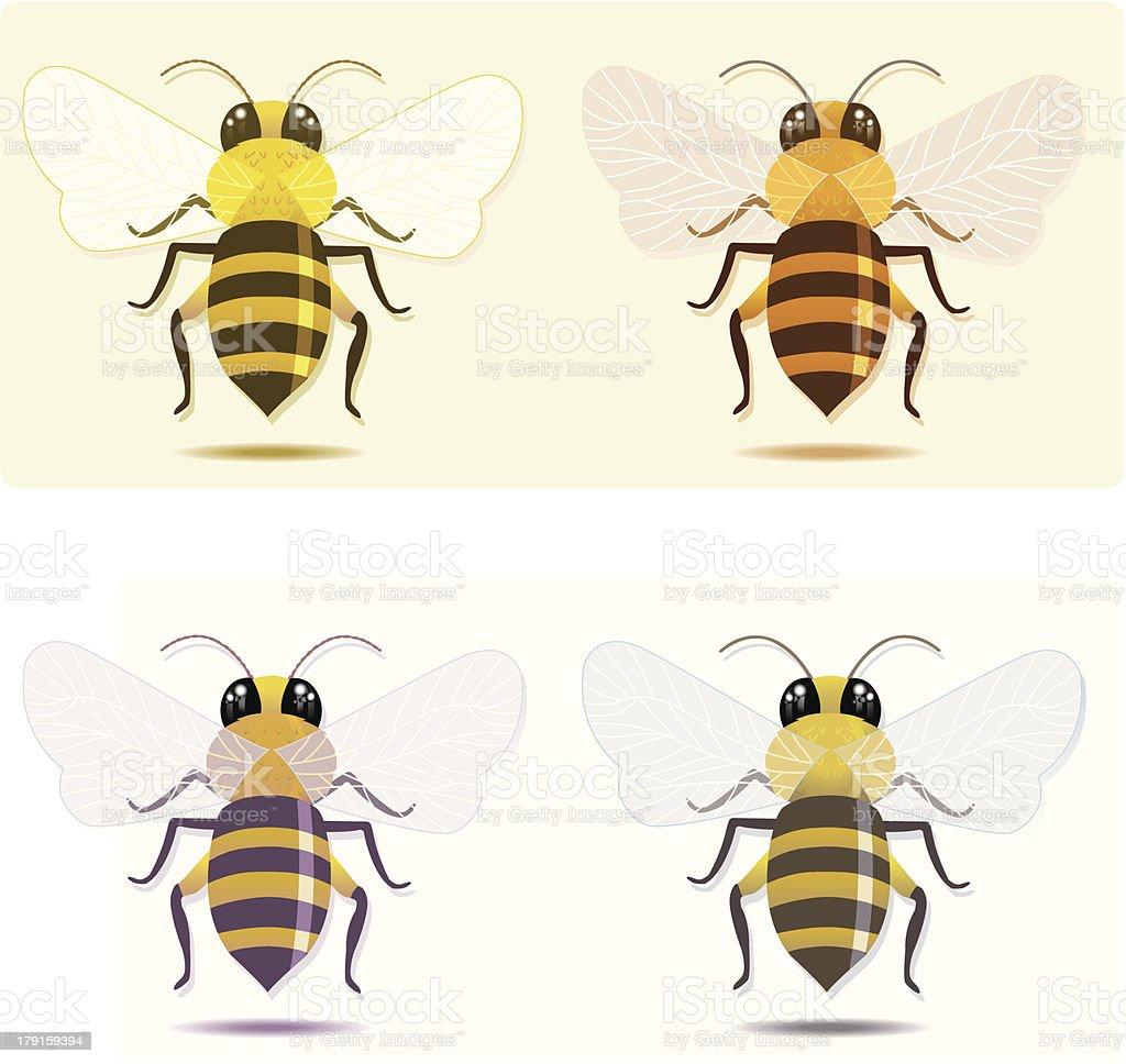 bees (4varios). vector art illustration