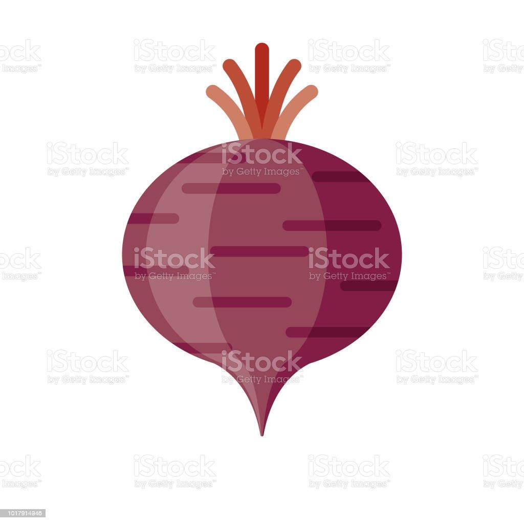 Beet Flat Design Vegetable Icon vector art illustration