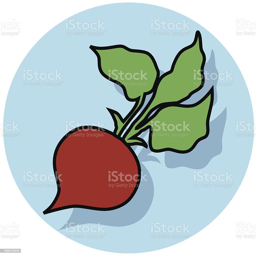 beet icon royalty-free stock vector art
