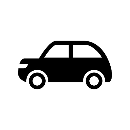 Beetle car side view icon