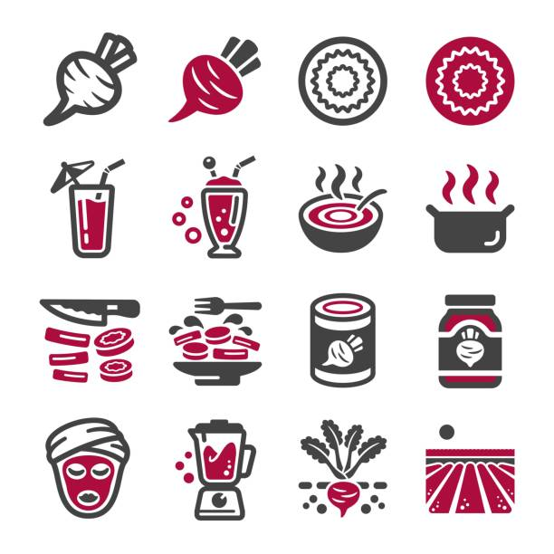 beetroot icon set beetroot icon set,vector and illustration beet stock illustrations