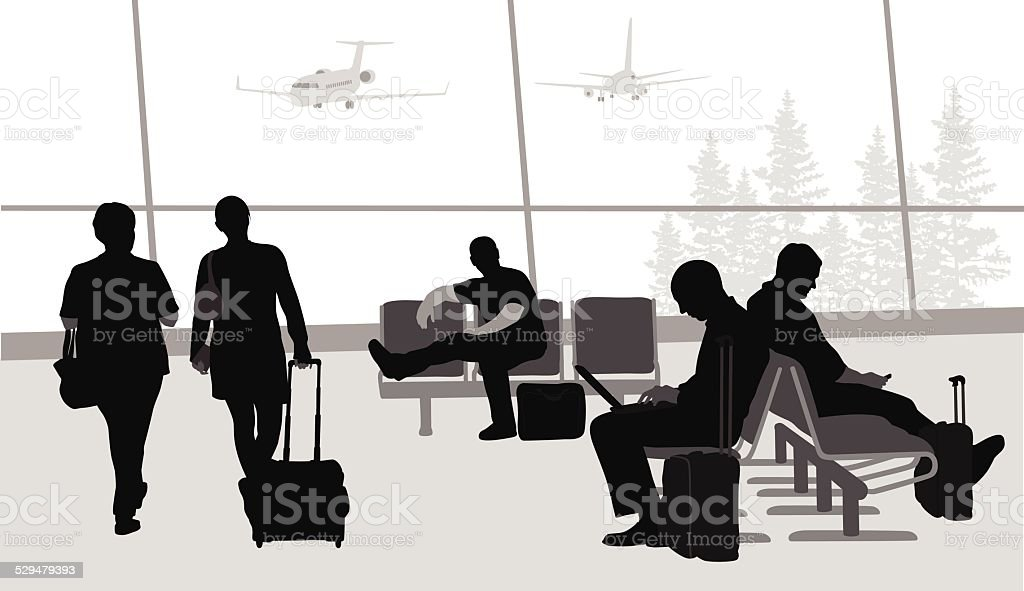 BeforeBoarding vector art illustration