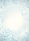 Winter background with snowflake. Outdoor scene. Layered illustration eps10 with gradient mesh.
