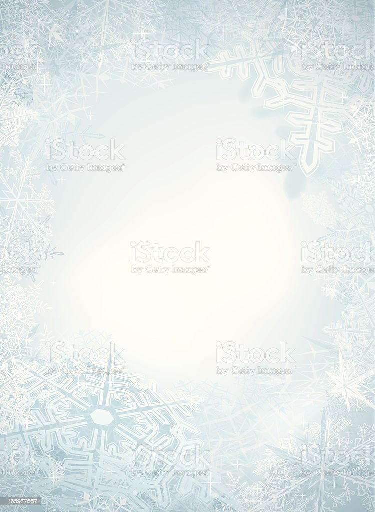 Behind Winter Window vector art illustration