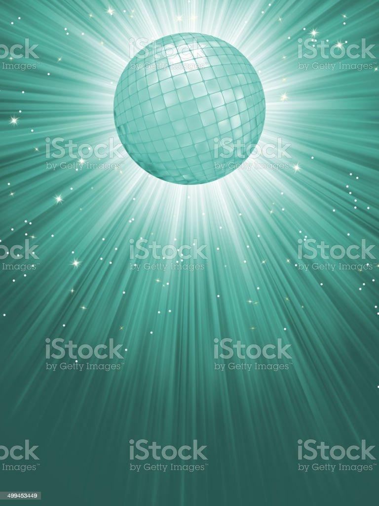 Beidge disco rays with stars. EPS 8 vector art illustration