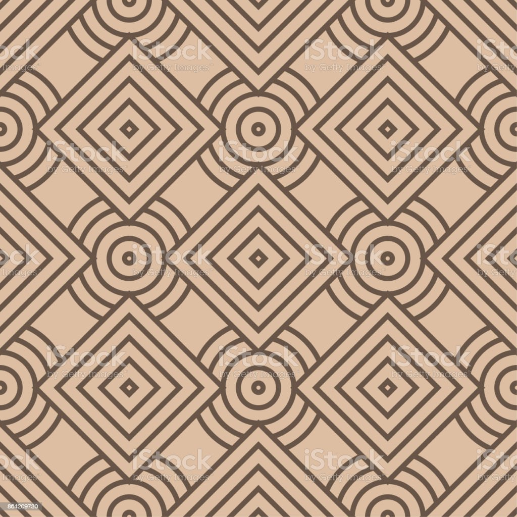 Beige and brown geometric print. Seamless pattern royalty-free beige and brown geometric print seamless pattern stock vector art & more images of abstract