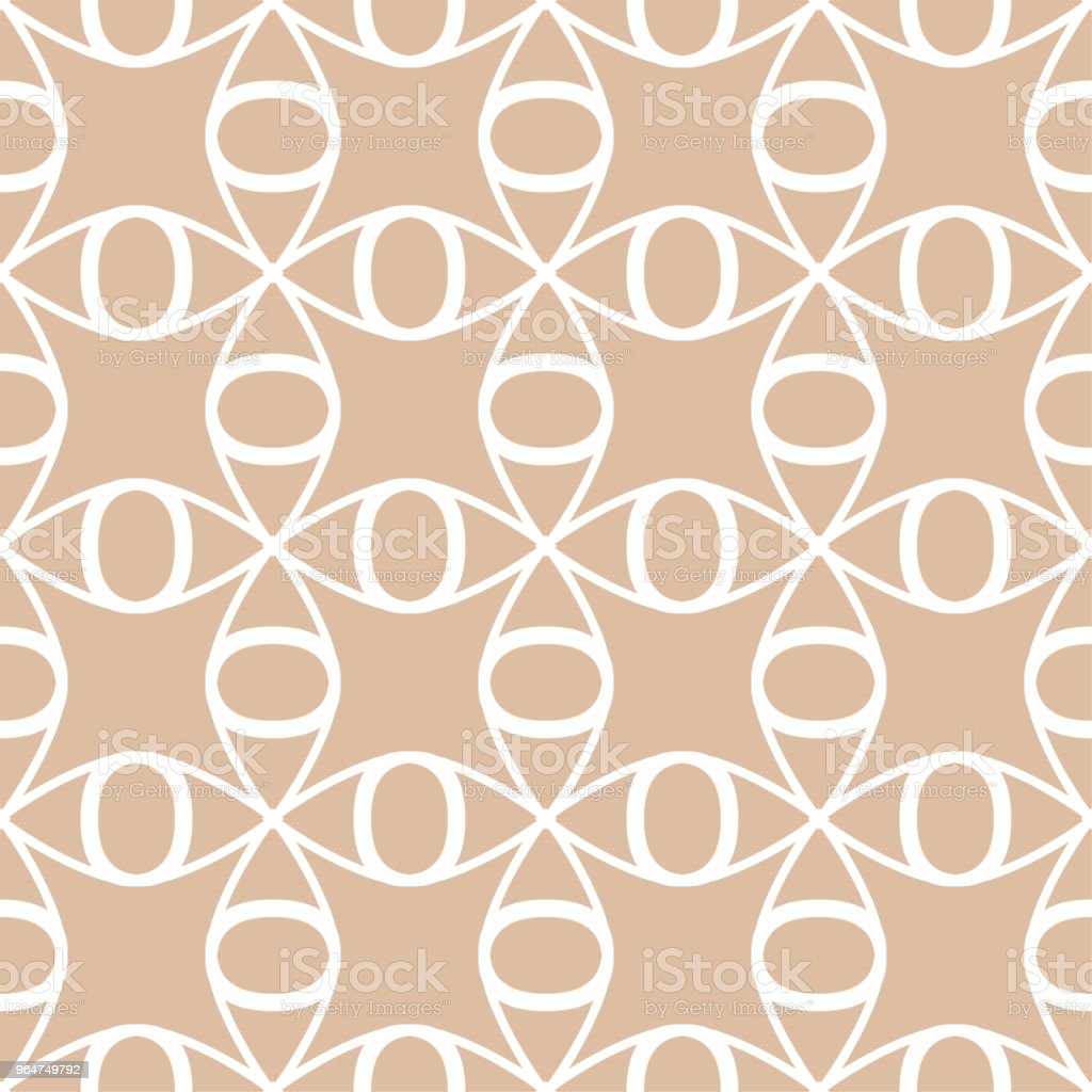 Beige and white geometric ornament. Seamless pattern royalty-free beige and white geometric ornament seamless pattern stock vector art & more images of abstract