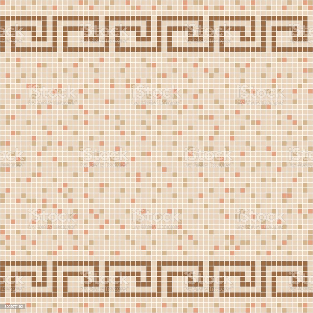 Beige Ceramic Tile Mosaic Pattern Stock Vector Art More Images Of