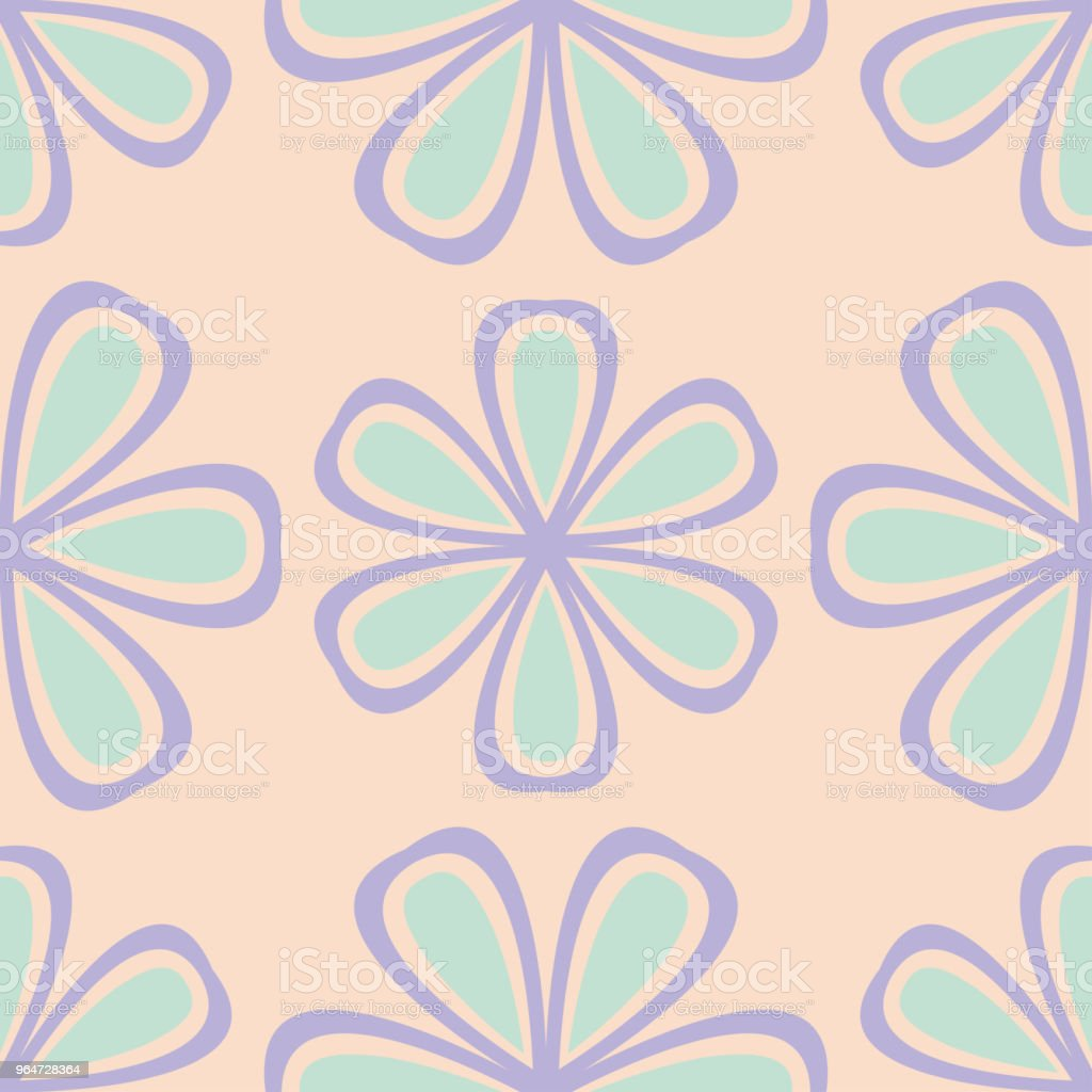 Beige floral background. Seamless pattern with violet and blue elements royalty-free beige floral background seamless pattern with violet and blue elements stock illustration - download image now