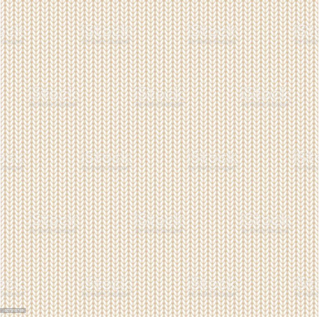 Beige knitted pattern vector art illustration