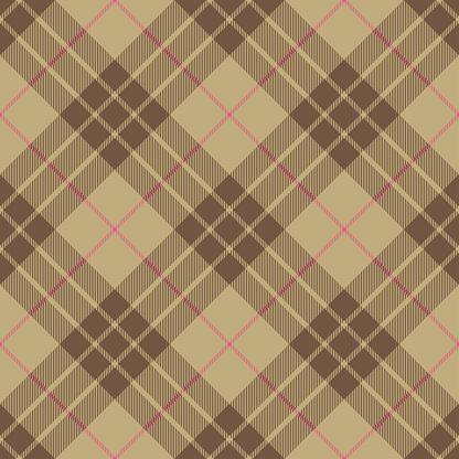 Beige Pink Argyle Scottish Tartan Plaid Textile Pattern