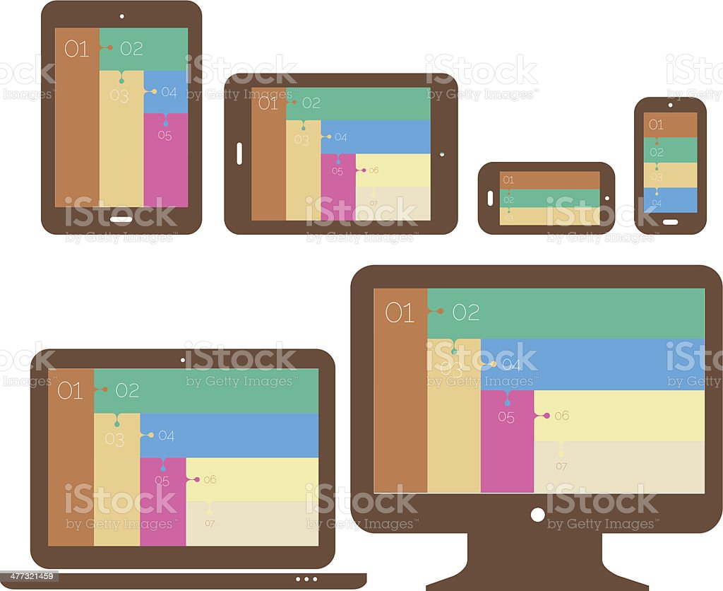 Beige responsive design royalty-free stock vector art