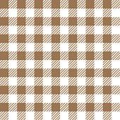 Beige Seamless Gingham Pattern