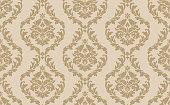 istock Beige Victorian Damask Luxury Pattern 1322852550