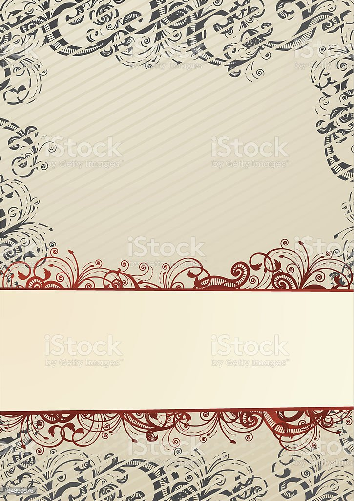 Beige wallpaper with copy-space royalty-free stock vector art