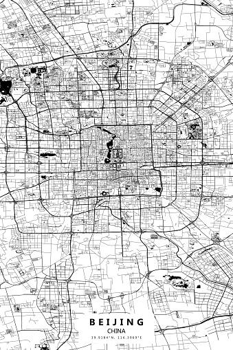 Beijing, China Vector Map