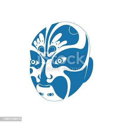 istock Beijing opera masks(Chinese traditional paper-cut art) 1263153074