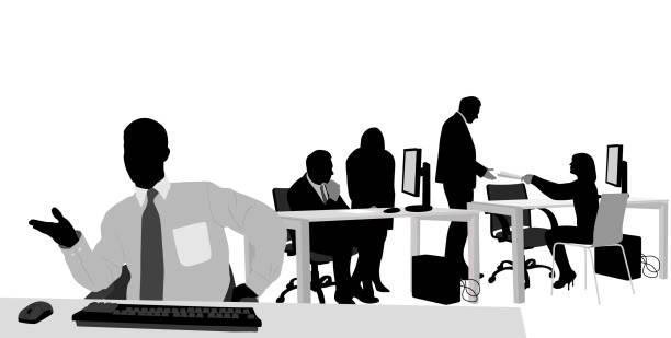 ilustraciones, imágenes clip art, dibujos animados e iconos de stock de beingcooperative - gerente de cuentas