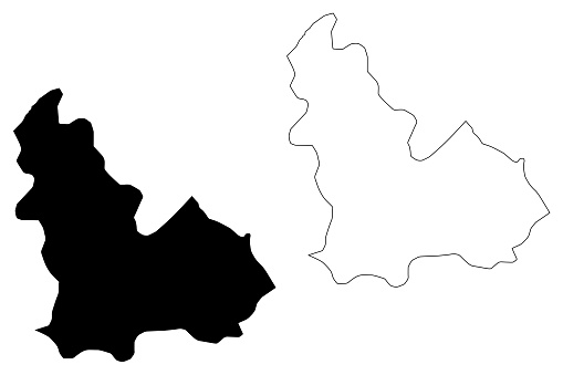 Beja Governorate (Governorates of Tunisia, Republic of Tunisia) map vector illustration, scribble sketch Beja map