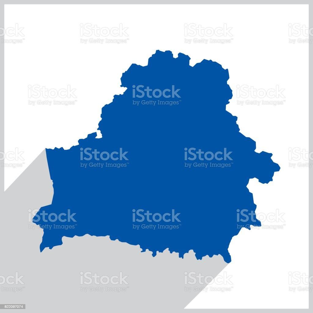 Belarus Blue Map icon vector art illustration
