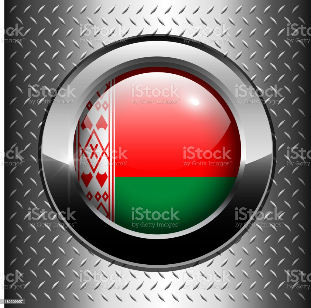 Belarus flag button royalty-free stock vector art