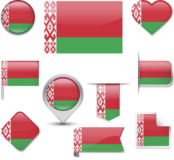 벨라루스 국기 스톡 사진 및 일러스트 - iStock