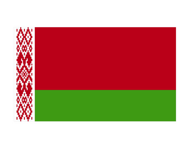 belarus flag - białoruś stock illustrations