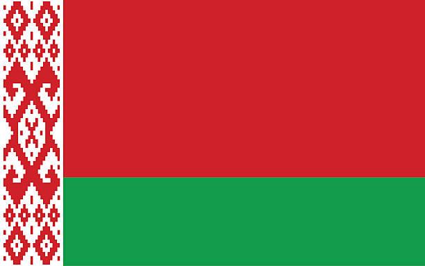 flaga białorusi - białoruś stock illustrations