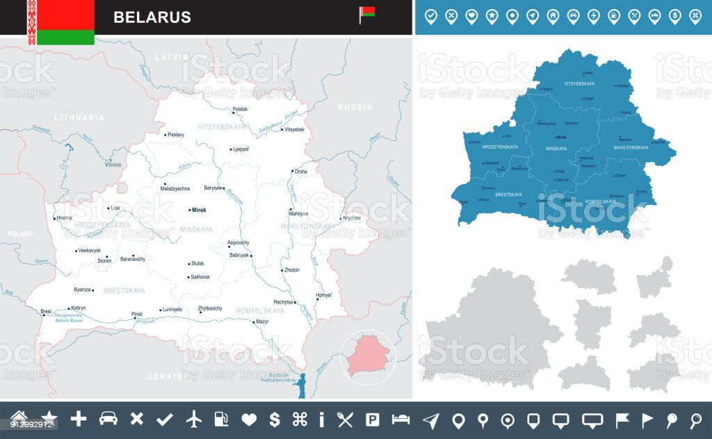 Belarus - infographic map - Detailed Vector Illustration vector art illustration