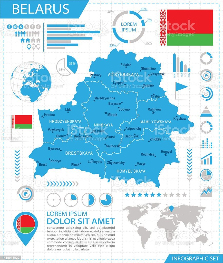 Belarus - infographic map - Illustration vector art illustration