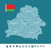 Belarus Infographic Map