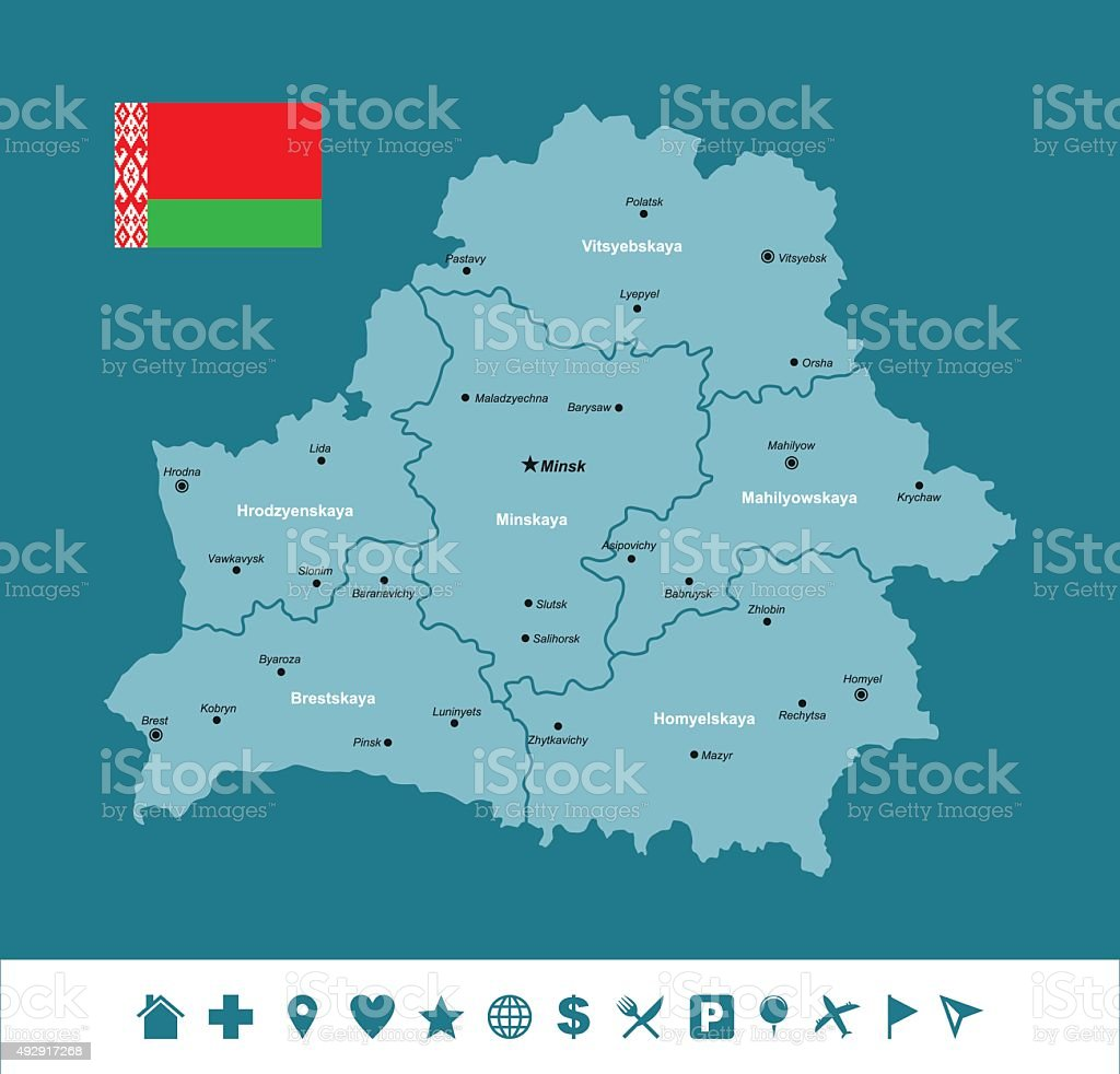 Belarus Infographic Map vector art illustration