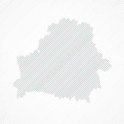 Belarus map designed with lines on white background