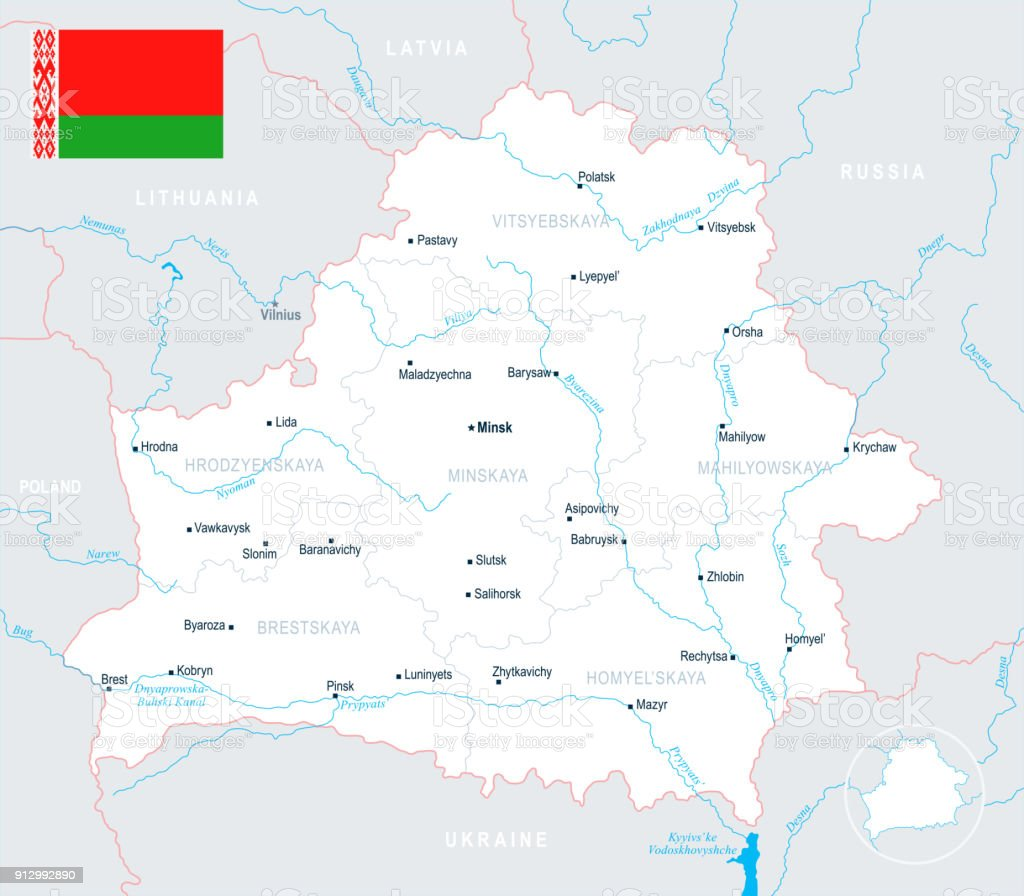 Belarus Map - Detailed Vector Illustration vector art illustration