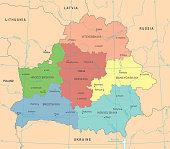 Belarus Map - Detailed Vector Illustration