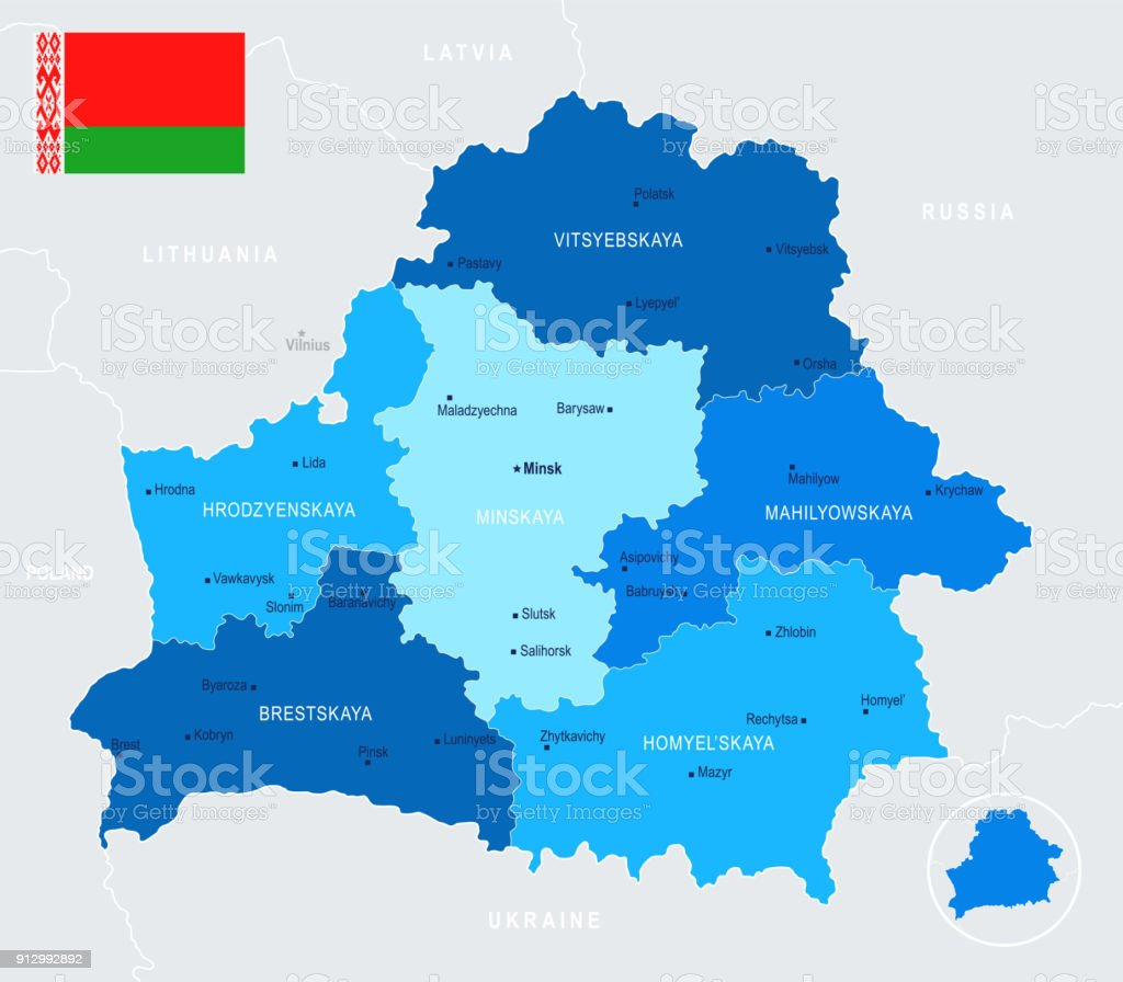 Belarus Map - Info Graphic Vector Illustration vector art illustration