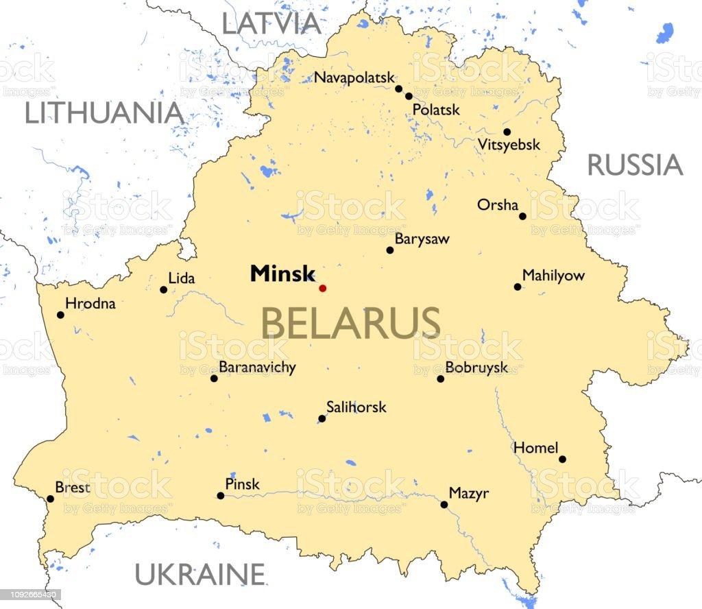 Karte Von Belarus Stock Vektor Art Und Mehr Bilder Von Brest Weissrussland Istock