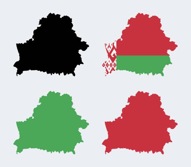 mapa białorusi - białoruś stock illustrations