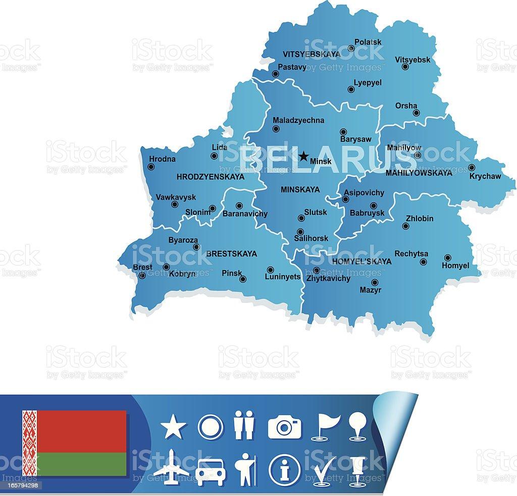 Belarus map vector art illustration