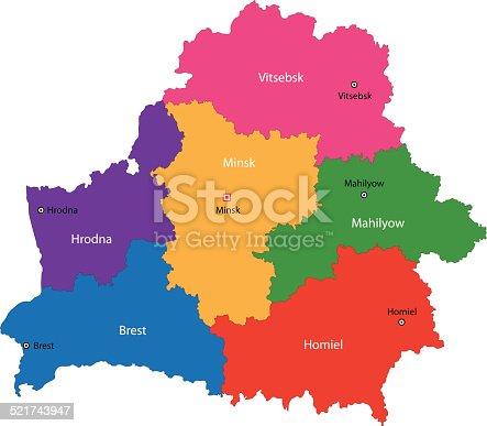 Ilustración de Bielorrusia Mapa y más banco de imágenes de ...
