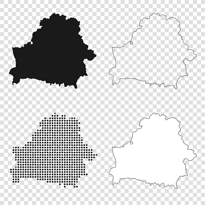 Belarus maps for design - Black, outline, mosaic and white