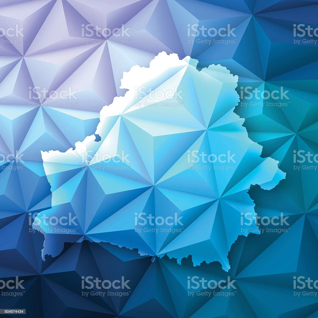 Belarus on Abstract Polygonal Background - Low Poly, Geometric Map of Belarus on a modern geometric background - Low Poly vector map. Abstract stock vector