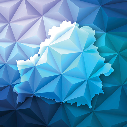 Belarus On Abstract Polygonal Background Low Poly Geometric Stock Illustration - Download Image Now