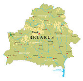 Belarus physical map