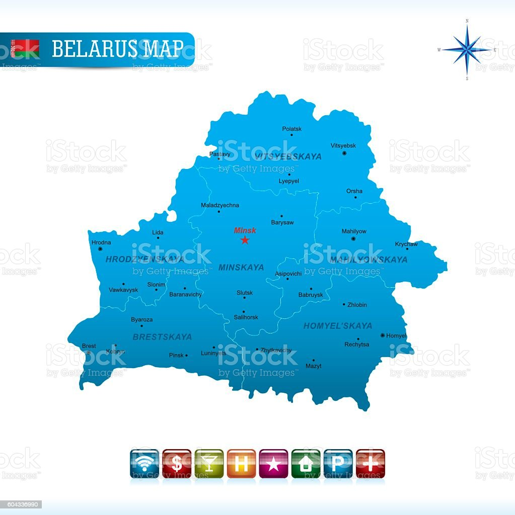 Belarus Vector Map vector art illustration